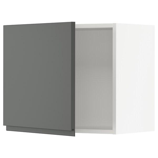 """SEKTION Wall cabinet, white/Voxtorp dark gray, 24x15x20 """""""