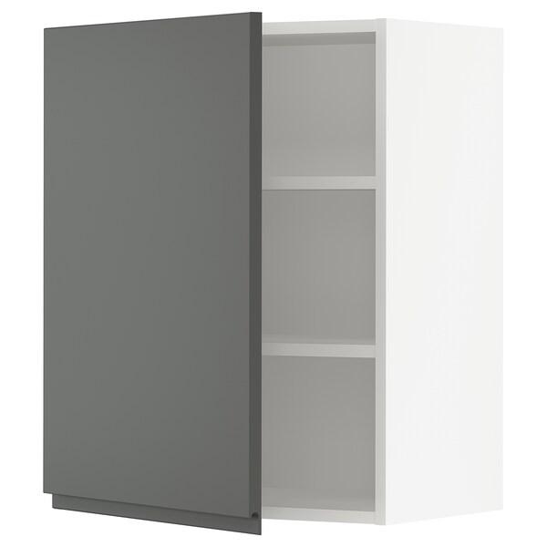 """SEKTION Wall cabinet, white/Voxtorp dark gray, 24x15x30 """""""