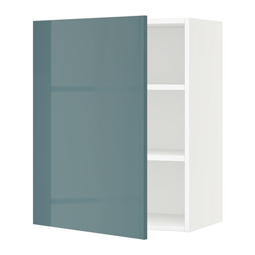 SEKTION Wall cabinet - white, Kallarp high gloss gray ...