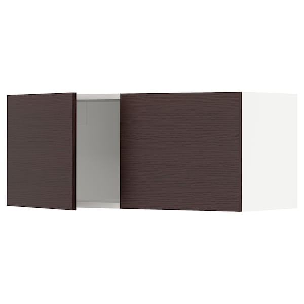 """SEKTION Wall cabinet with 2 doors, white Askersund/dark brown ash effect, 36x15x15 """""""
