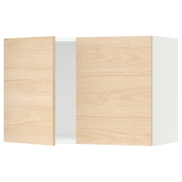 SEKTION Wall cabinet with 2 doors, white/Askersund light ash effect, 30x15x20 ""