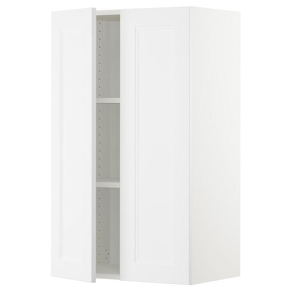 "SEKTION Wall cabinet with 2 doors, white/Axstad matt white, 24x15x40 """