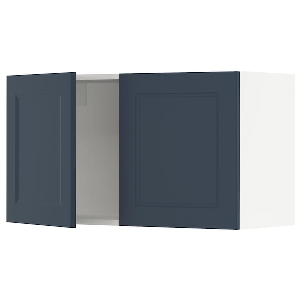 SEKTION Wall cabinet with 2 doors, white Axstad/matte blue, 36x15x20 ""