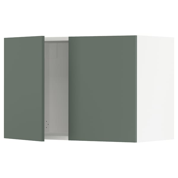 """SEKTION Wall cabinet with 2 doors, white/Bodarp gray-green, 30x15x20 """""""