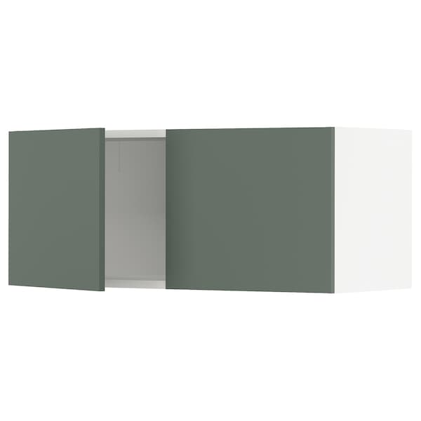 """SEKTION Wall cabinet with 2 doors, white/Bodarp gray-green, 36x15x15 """""""
