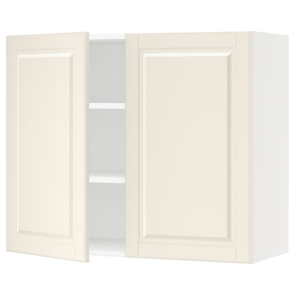 SEKTION Wall cabinet with 2 doors, white/Bodbyn off-white, 36x15x30 ""