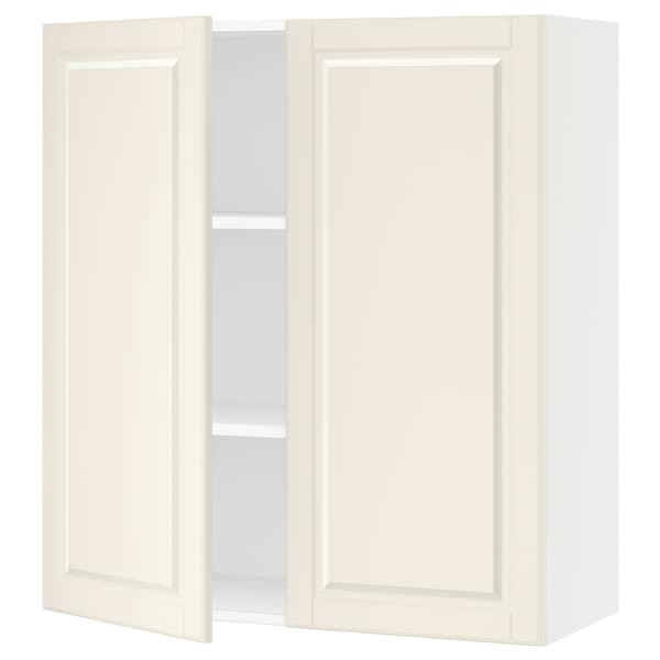"""SEKTION Wall cabinet with 2 doors, white/Bodbyn off-white, 36x15x40 """""""