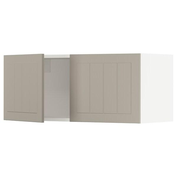 """SEKTION Wall cabinet with 2 doors, white/Stensund beige, 36x15x15 """""""