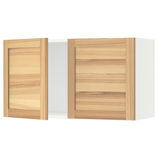 """SEKTION Wall cabinet with 2 doors, white/Torhamn ash, 36x15x20 """""""