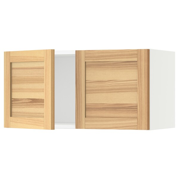 SEKTION Wall cabinet with 2 doors, white/Torhamn ash, 30x15x15 ""