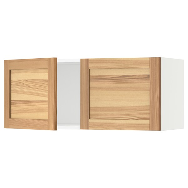 SEKTION Wall cabinet with 2 doors, white/Torhamn ash, 36x15x15 ""
