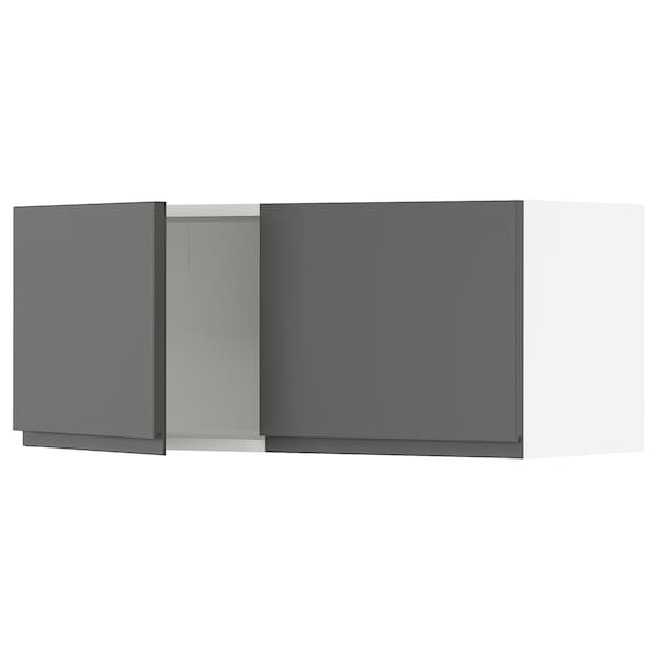 """SEKTION Wall cabinet with 2 doors, white/Voxtorp dark gray, 36x15x15 """""""