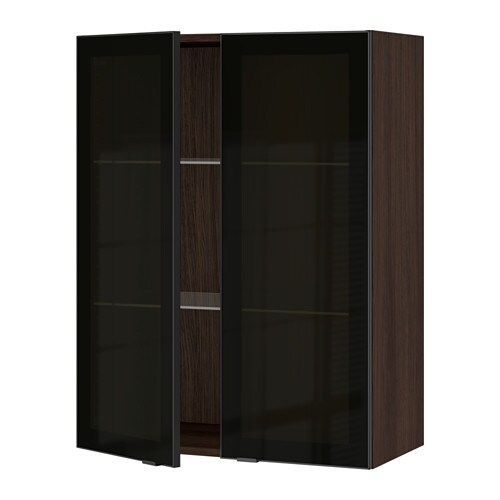 ikea kitchen wall cabinets with glass doors sektion wall cabinet with 2 glass doors wood effect 17701
