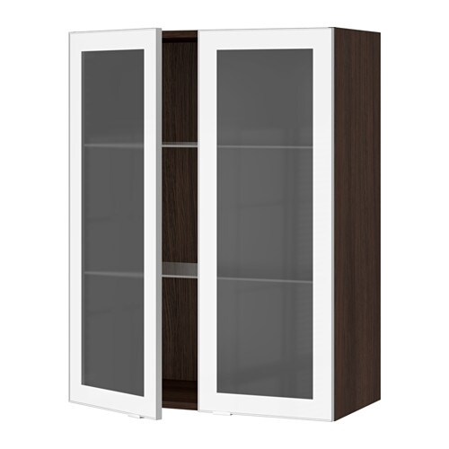 Kitchen Cabinets Aluminum Glass: SEKTION Wall Cabinet With 2 Glass Doors