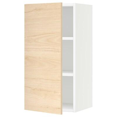 "SEKTION wall cabinet white/Askersund light ash effect 15 "" 15 "" 15 3/8 "" 30 """