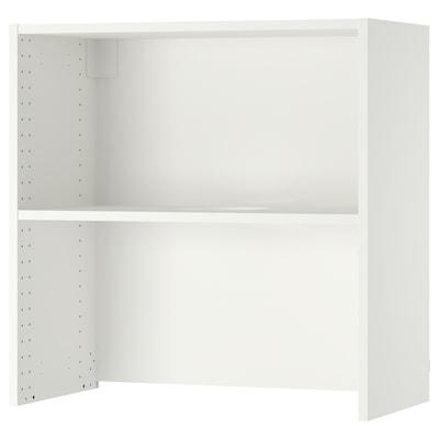 "SEKTION Wall cb f extractor hood w shelf, white, 30x14 3/4x30 """
