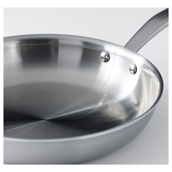 "SENSUELL Frying pan, stainless steel/gray, 13 """