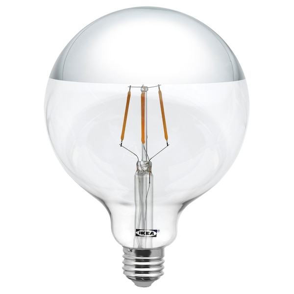 """SILLBO LED bulb E26 370 lumen, globe/mirrored top silver colored, 5 """""""