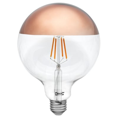 SILLBO LED bulb E26 370 lumen globe/mirrored top bronze colored 5 ""