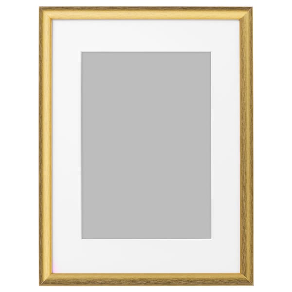 SILVERHÖJDEN Frame, gold-colour, 12x16 ""