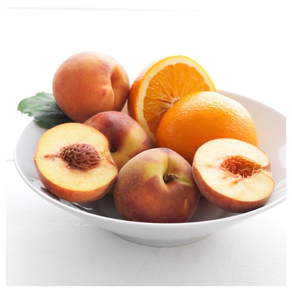"SINNLIG Scented candle in glass, Peach and orange/orange, 3 ½ """