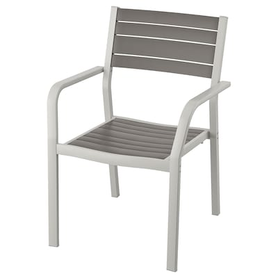 SJÄLLAND Armchair, outdoor, light gray/dark gray