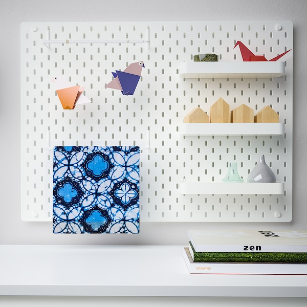 SKÅDIS Pegboard combination, white, 30x22 ""