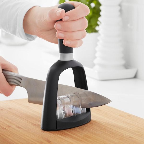 SKÄRANDE Knife sharpener, black