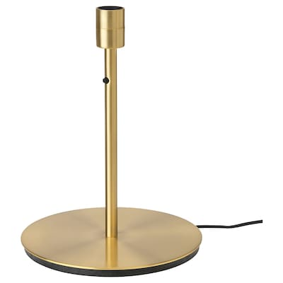 """SKAFTET Table lamp base, brass color, 15 """""""