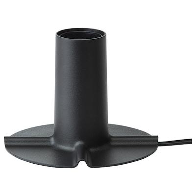 SKALLRAN Table lamp base, dark gray/metal