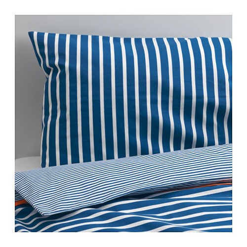 SKÄMTSAM Crib duvet cover/pillowcase   Made of cotton and lyocell, both natural materials that are soft against the skin.