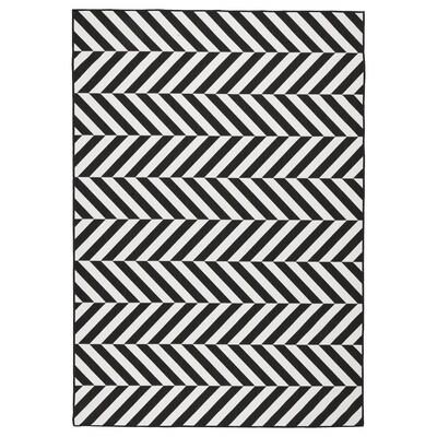 """SKARRILD Rug flatwoven, in/outdoor, white/black, 5 ' 3 """"x7 ' 7 """""""