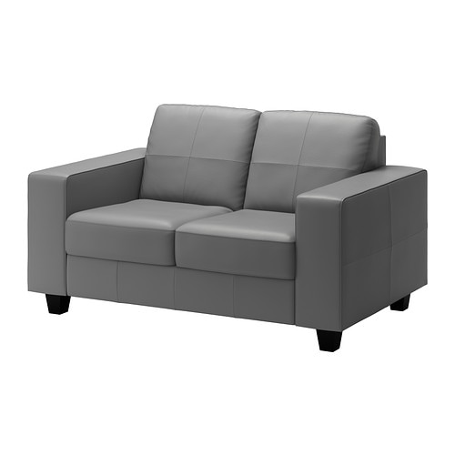 "SKOGABY Loveseat   Soft, dyed-through 3/64"" thick grain leather that is supple and smooth to the touch."