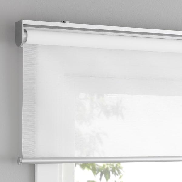 "SKOGSKLÖVER Roller blind, white, 23x76 ¾ """