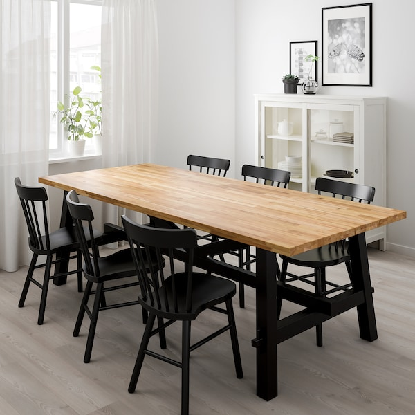 IKEA SKOGSTA / NORRARYD Table and 6 chairs
