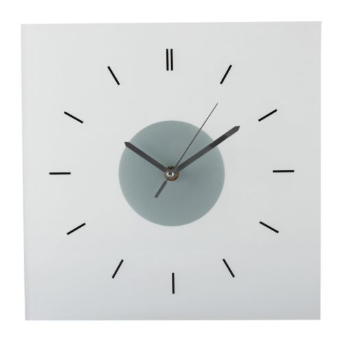 SKOJ Wall clock   The clock is extra resistant to impact as it is made of tempered glass.