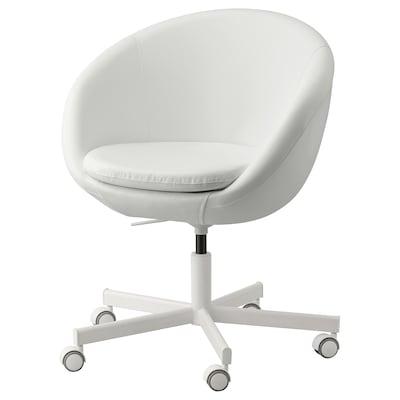 """SKRUVSTA swivel chair Ysane white 242 lb 8 oz 27 1/8 """" 27 1/8 """" 31 1/8 """" 33 7/8 """" 18 7/8 """" 17 3/4 """" 18 1/2 """" 21 5/8 """""""