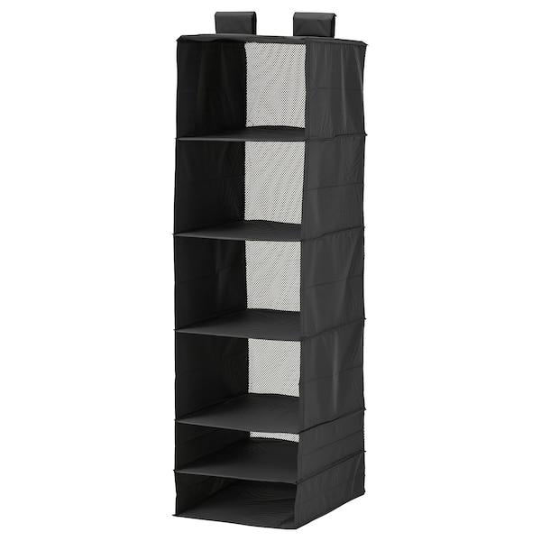 "SKUBB organizer with 6 compartments black 13 ¾ "" 17 ¾ "" 49 ¼ """
