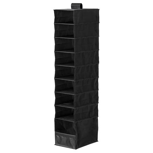 "SKUBB organizer with 9 compartments black 8 ¾ "" 13 ½ "" 47 ¼ """