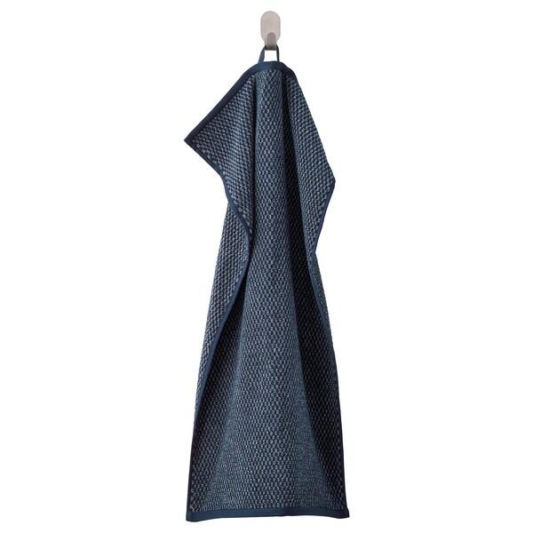 "SKUTTRAN Hand towel, dark blue/marled, 16x28 """