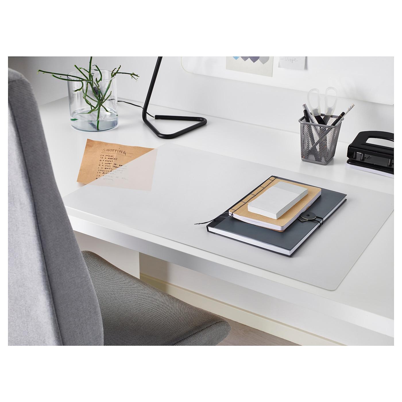 "SKVALLRA Desk pad, white/transparent, 15x22 ¾ """