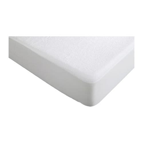 SKYDDA HÖGT Mattress protector   A waterproof layer does not allow any liquid to pass through.