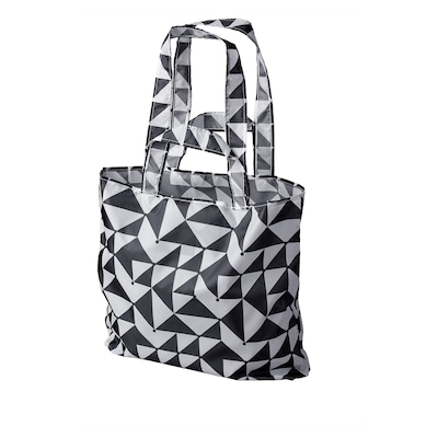 "SKYNKE shopping bag black/white 17 ¾ "" 14 ¼ """