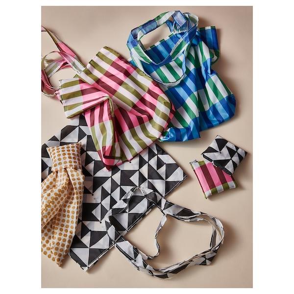 SKYNKE Shopping bag, green/pink