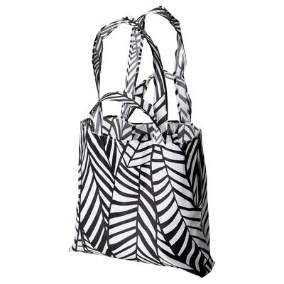 SKYNKE Shopping bag, white/black