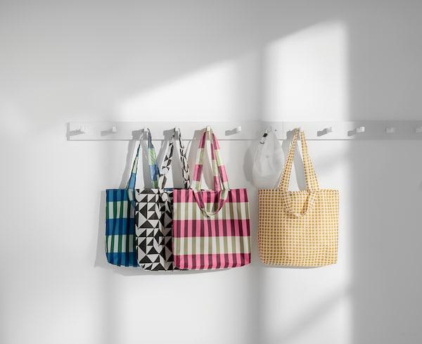 SKYNKE Shopping bag, yellow/white