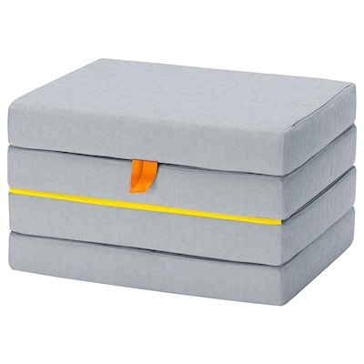 """SLÄKT mattress, folding 18 7/8 """" 14 """" 76 """" 24 3/8 """" 3 1/2 """""""