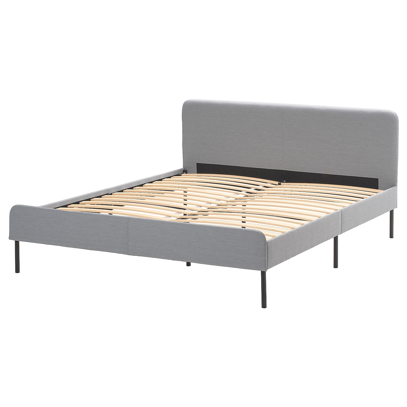 Slattum Upholstered Bed Frame Knisa Light Gray Full Double Ikea