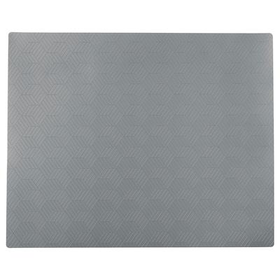 """SLIRA Place mat, gray, 14x11 """""""