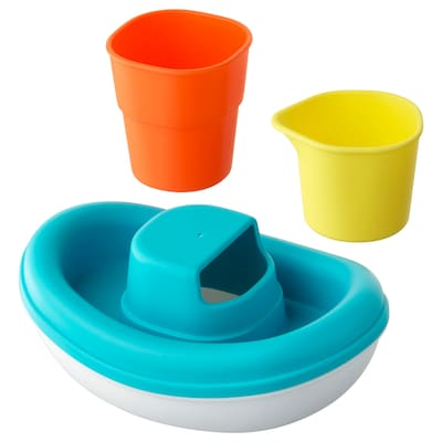 SMÅKRYP 3-piece bath toy set boat
